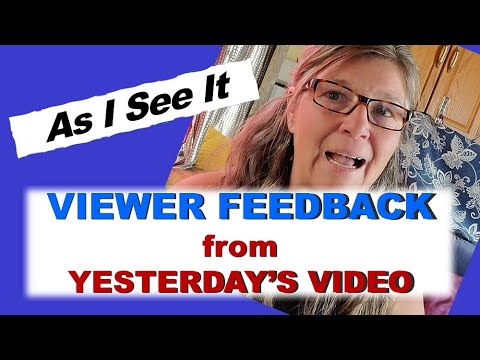 Viewer Feedback//Video about Why I'm Voting for Joe Biden