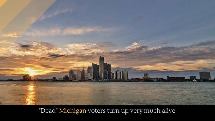 """""""Dead"""" Michigan voters turn up very much alive"""