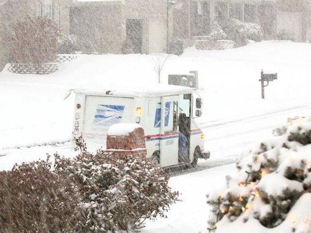 Neither snow, nor rain, nor progress should stop the mail truck