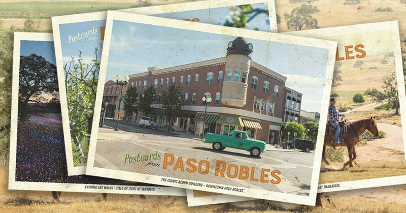 To Engage Stuck-at-Home Travelers, Paso Robles Goes Retro, Launches Limited-Edition Postcard Series
