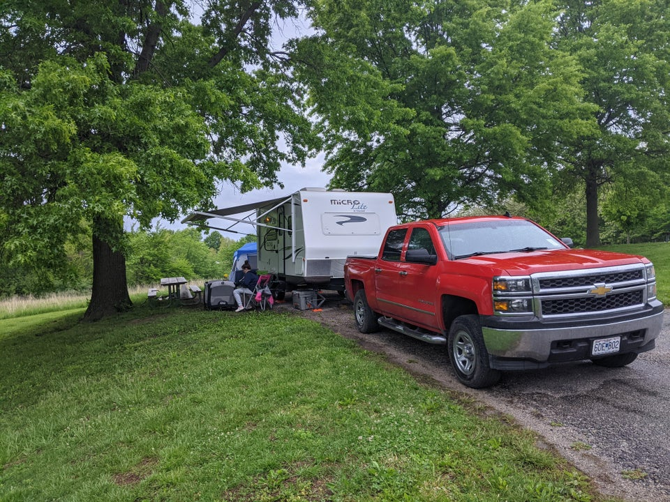First trip of the year! Crow's Creek Campground in Smithville, Missouri