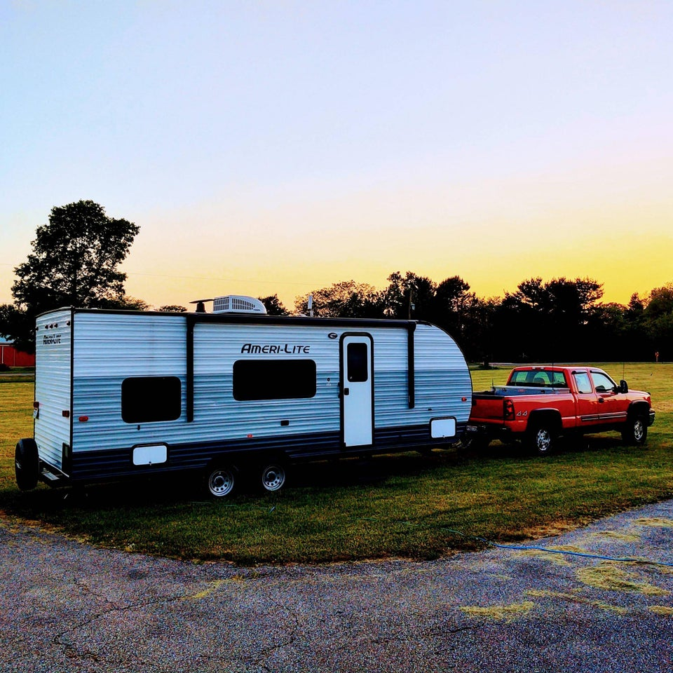 Hitched up and ready to embark in the morning for trip number two of the season!