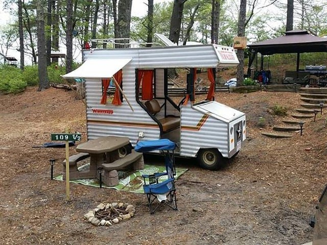 For my Pandemic project, I remodeled my RV. Kitchen with folding countertop, dishwasher, air fryer oven, remote office with flippable chair, green roof, solar and paint/decor.