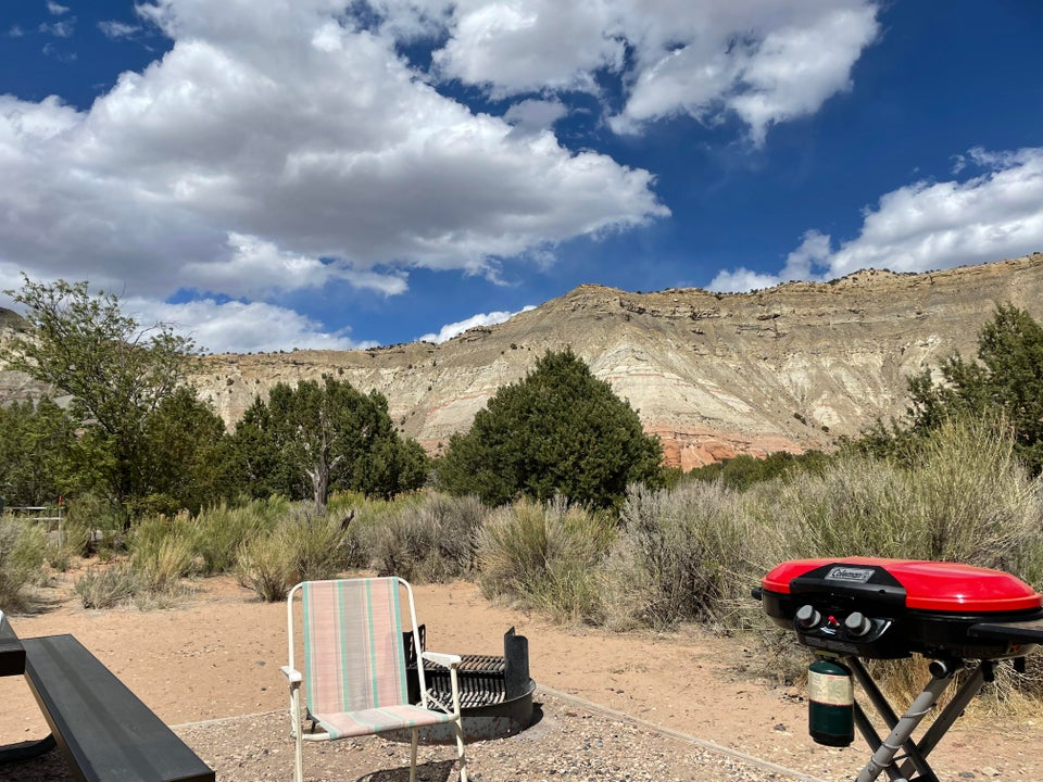 A small view from our campsite at Kodachrome basin in UT. More about this when I'm back.