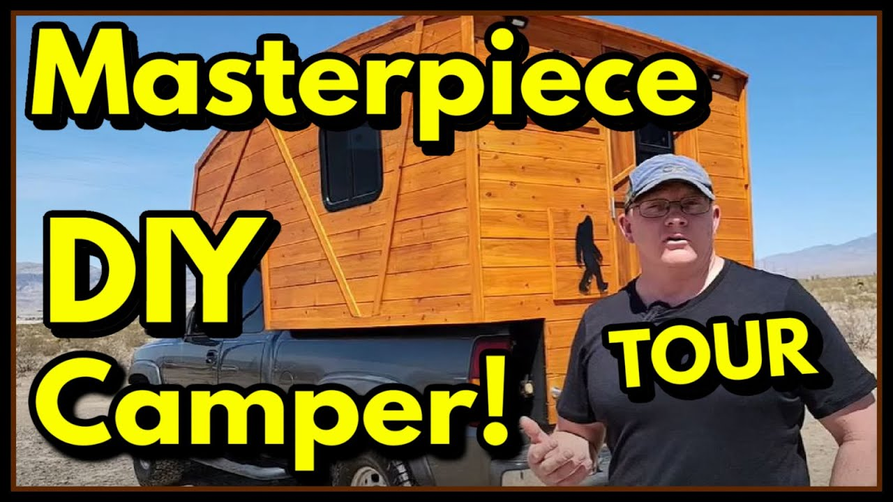 TOUR:Turn Your 4x4 Pick Up Truck into an Off Road Home! Lightweight DIY Camper - Rolling Work of Art