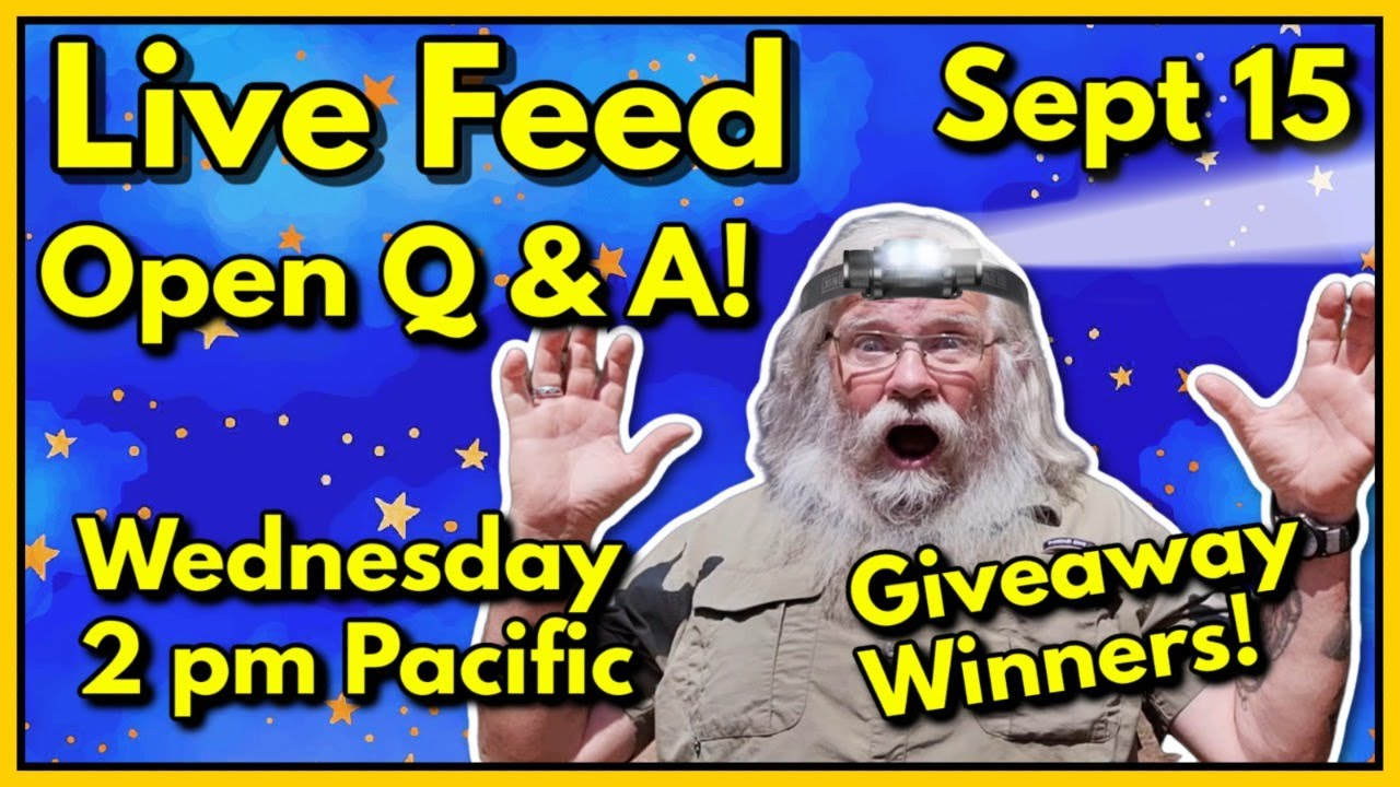 Live Feed! Wednesday, September 15, 2021- Winner of the Giveaway! Open Q and A!