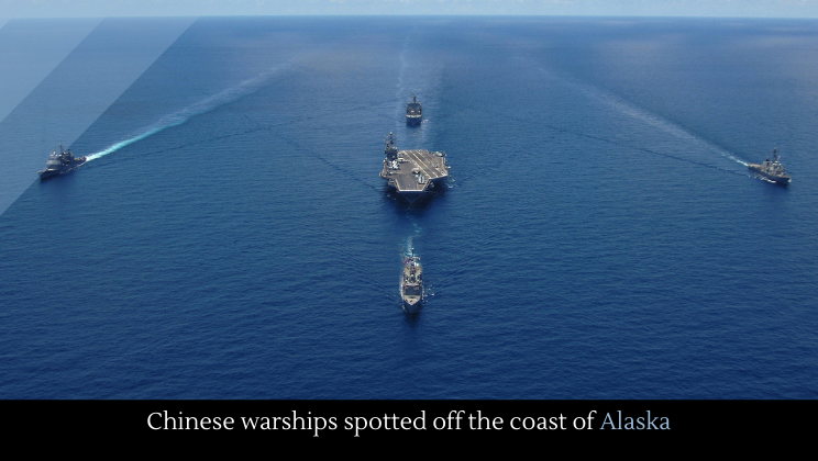 Chinese warships spotted off the coast of Alaska